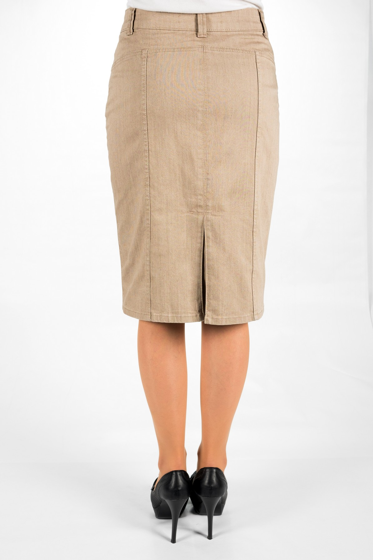 MODERN PENCIL SKIRT WITH ONE PLEAT